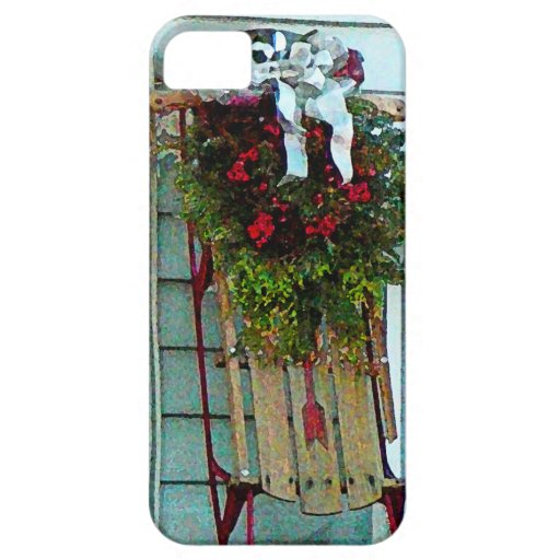 Sled on Porch iPhone 5 Case