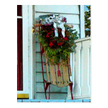 Sled on Porch Post Card