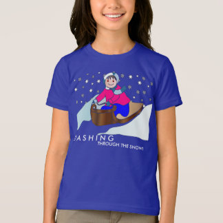 Sled Riding on T-Shirt
