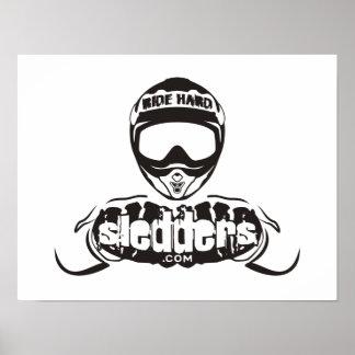 Sledders.com Logo Semi-Gloss Poster
