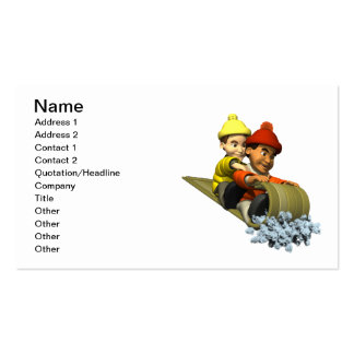 Sledding 1 business card templates