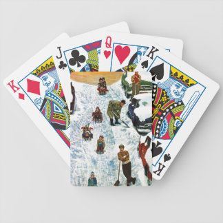 Sledding and Digging Out Bicycle Playing Cards