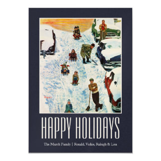Sledding and Digging Out Card