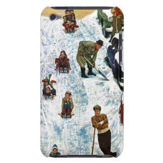 Sledding and Digging Out Barely There iPod Cover