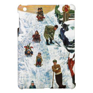 Sledding and Digging Out iPad Mini Cases