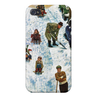 Sledding and Digging Out iPhone 4/4S Covers