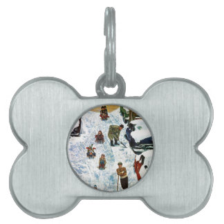 Sledding and Digging Out Pet Tag