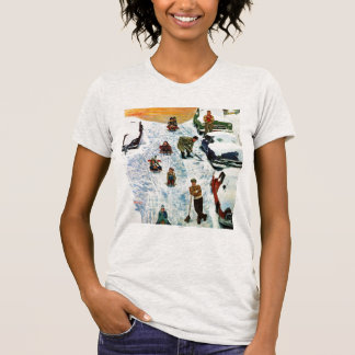 Sledding and Digging Out Tee Shirt