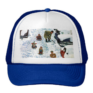 Sledding and Digging Out Trucker Hat