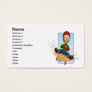 Sledding Business Card