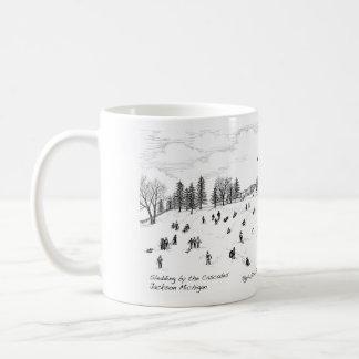 Sledding by the Cascades Coffee Mug