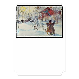 Sledding by the Wash House Card