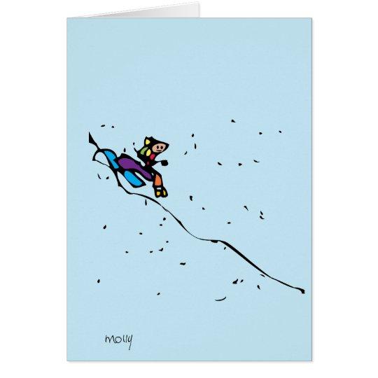 Sledding Card