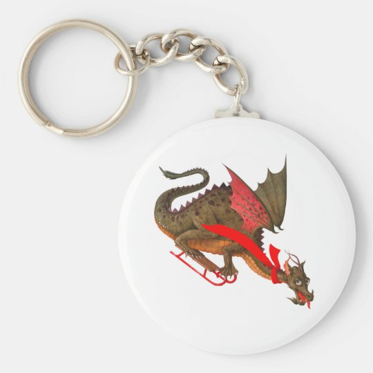 Sledding Dragon Keychain