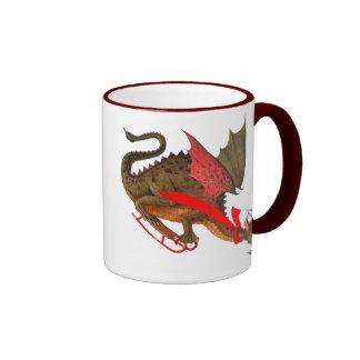Sledding Dragon Coffee Mug
