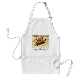 Sledding Foxes Adult Apron
