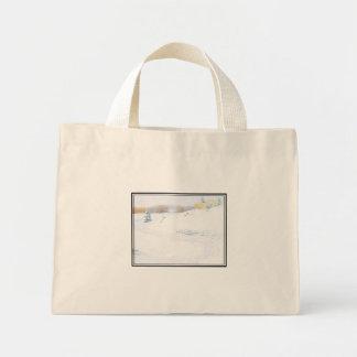 Sledding - mini tote bag