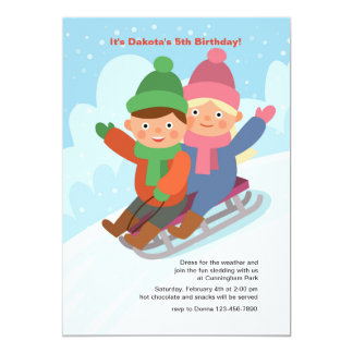 Sledding Party Invitation