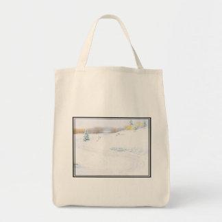 Sledding - tote bag