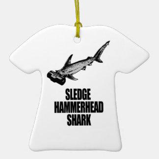 Sledge Hammerhead Shark Christmas Ornament