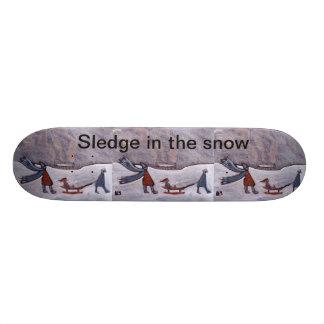 Sledge in the snow,skateboard skate board deck