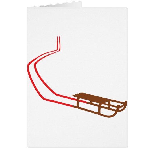 Sledge Red Track Card