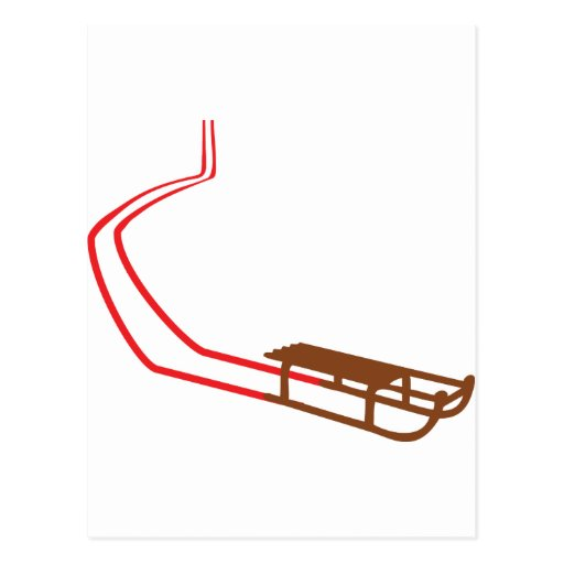 Sledge Red Track Post Cards