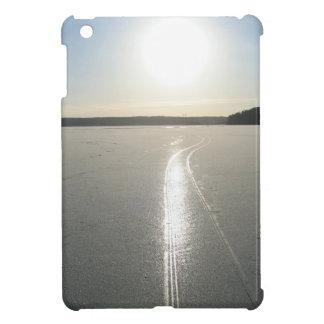 Sledge trail on the lake iPad mini case
