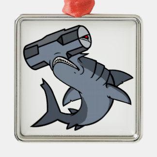 Sledgehammer Head Shark Metal Ornament