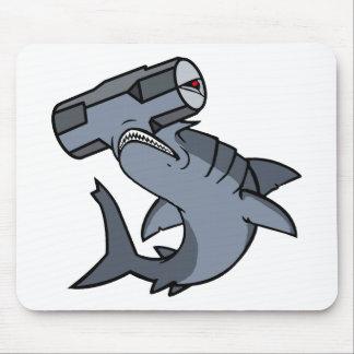 Sledgehammer Head Shark Mouse Pad