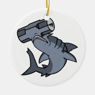 Sledgehammer Head Shark Christmas Tree Ornament