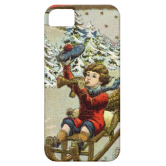 Sledging in the snow iPhone SE/5/5s case