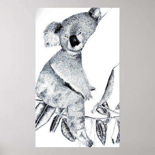 Sleeaping Koala Poster