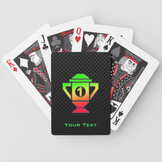 Sleek 1st Place Trophy Bicycle Playing Cards
