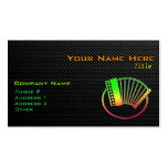 Sleek Accordion Double-Sided Standard Business Cards (Pack Of 100)