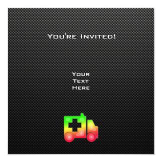 Sleek Ambulance Personalized Invitation