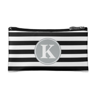 Sleek and Chic Striped Monogram Wristlets