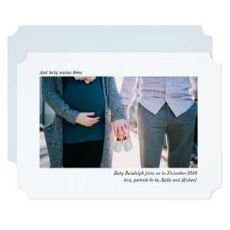 Sleek and Simple Photo Pregnancy Announcement