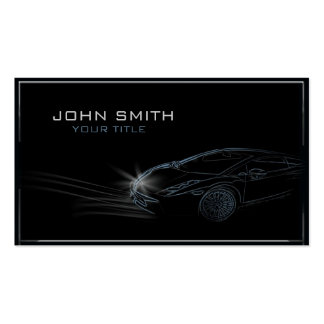 Sleek Automobile Outline Double-Sided Standard Business Cards (Pack Of 100)