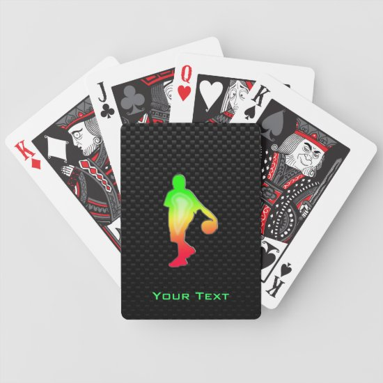 Sleek Basketball Bicycle Playing Cards