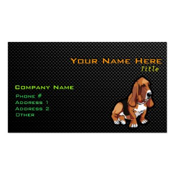 Sleek Basset Hound Business Card Template