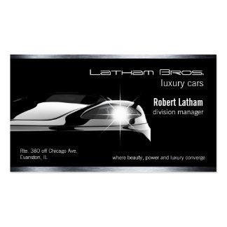 sleek black luxury car business card
