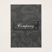 sleek black  metal Business Cards