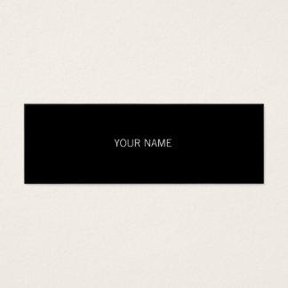 Sleek Black Mini Business Card