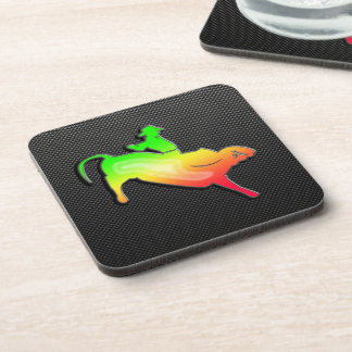Sleek Bull Rider Beverage Coaster