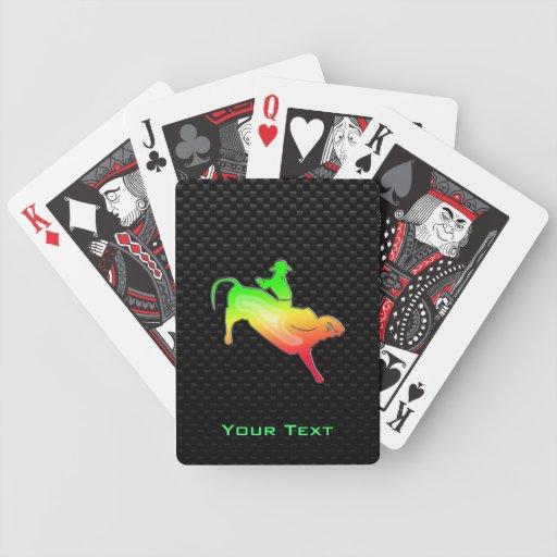 Sleek Bull Rider Bicycle Playing Cards