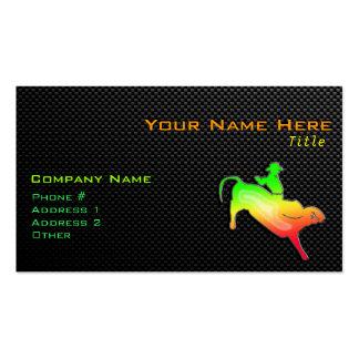 Sleek Bull Rider Business Card Templates