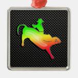 Sleek Bull Rider Ornament