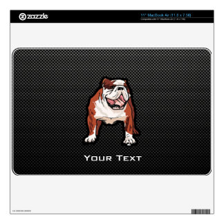 Sleek Bulldog MacBook Air Decals