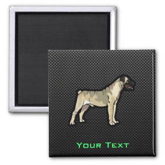 Sleek Bullmastiff 2 Inch Square Magnet
